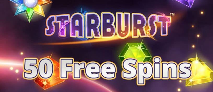 50 Free Spins på Starburst